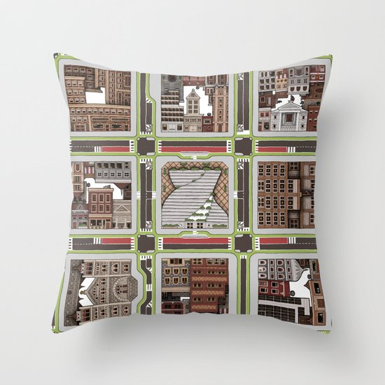 Urban Plaid Throw Pillow