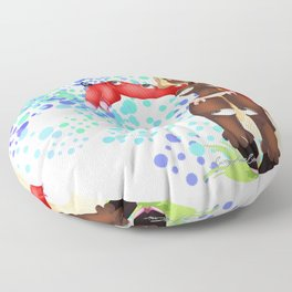 Lolola and the butterfly Floor Pillow