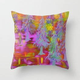 Winter Design DF Throw Pillow