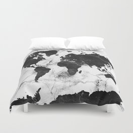 Atlas duvet covers society6 world map marble 3 duvet cover gumiabroncs Gallery