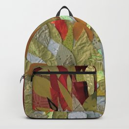 Hothouse Flower- 3D Decoupage Backpack