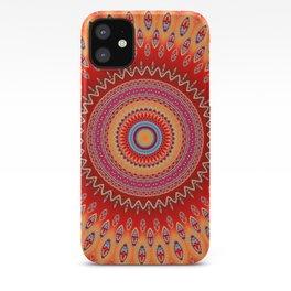orange red mandala iPhone Case