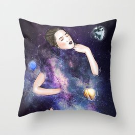 Somewhere in a peaceful mind. Throw Pillow