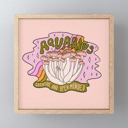Aquarius Mushroom Framed Mini Art Print
