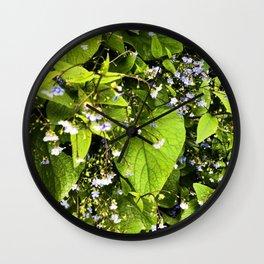 Blue Florets Wall Clock