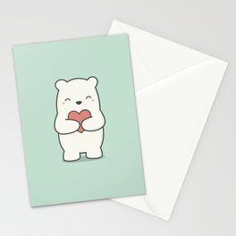 Kawaii Cute Polar Bear Stationery Cards