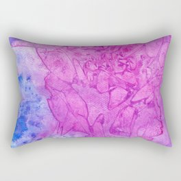 Stained Glass Pink Rectangular Pillow