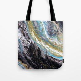 A View from the ISS - Abstract Flow Acrylic Tote Bag