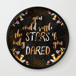 Rattle the stars (tog) Wall Clock