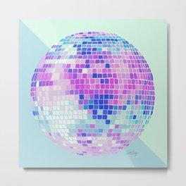 Disco Ball – Indigo Metal Print