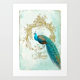 Peacock Mode Art Print