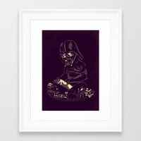 dark side Framed Art Prints featuring Dark Side by yortsiraulo