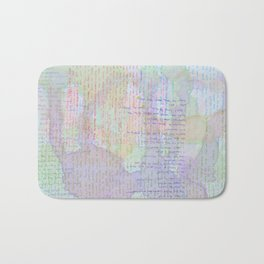 Words and Water Paint Bath Mat