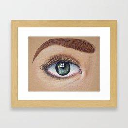 Too Nervous Framed Art Print