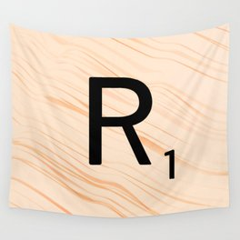 Scrabble Letter R - Large Scrabble Tiles Wall Tapestry