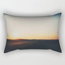 Sunset over Garden of the Gods in Illinois Rectangular Pillow