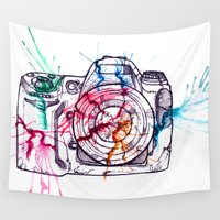 photographer Wall Tapestries featuring Photographer insecurity by Égoutter Les Âmes