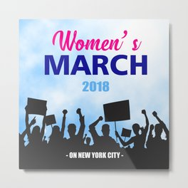 women's march Metal Print