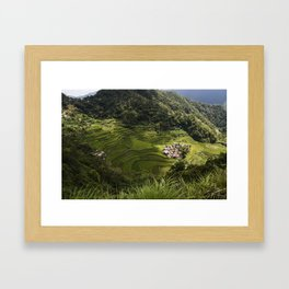 Rice Terraces of Banaue, Philippines Framed Art Print