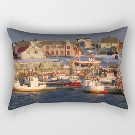 Winter Fishing Rectangular Pillow