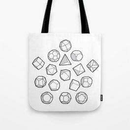 Platonic solids Mega Tote Bag