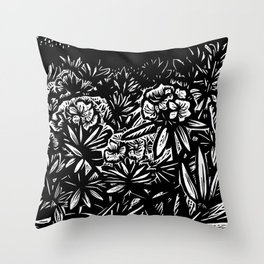 Carolina Rhododendron Throw Pillow