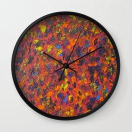 Autumn Colors Splatter Painting Wall Clock
