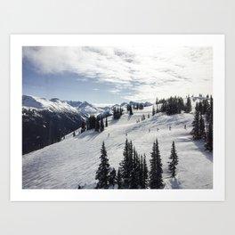 Whistler Mountain Canada  Art Print