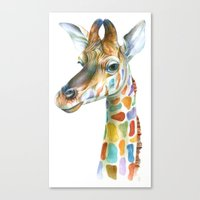 kindle Canvas Prints featuring Giraffe by Brandon Keehner