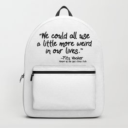 Fan-favorite Fitz Quote Backpack