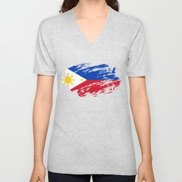 Philippines Flag T-Shirt Unisex V-Neck