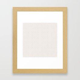 Bridal Blush and White Polka Dots Framed Art Print