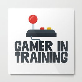 Gamer In Training Metal Print