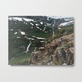 Going to the Sun waterfalls, Glacier National Park, Montana Metal Print