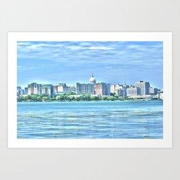 Madison Skyline Art Print