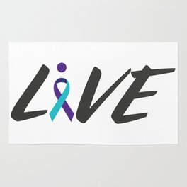 Live suicide prevention awarness Rug