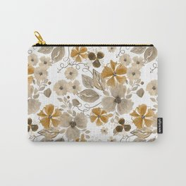 Floral pattern. 6 Carry-All Pouch