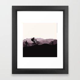 MTB Mountains Framed Art Print