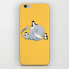 penguins and a whale iPhone & iPod Skin