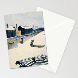 Kiso Riverside Snow, Revision - Digital Remastered Edition Stationery Cards