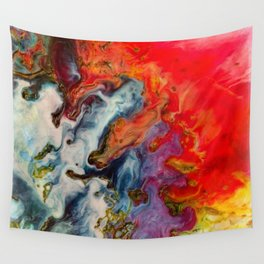 Abstract fire Wall Tapestry