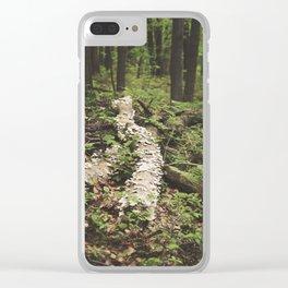 Mushroom Logged Clear iPhone Case