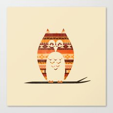 Native Owl Canvas Print