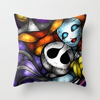 mandie manzano Throw Pillows featuring Love at its darkest by Mandie Manzano