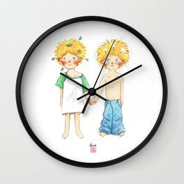 Little twin boy Wall Clock