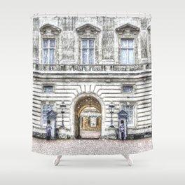 Buckingham Palace Snow Shower Curtain