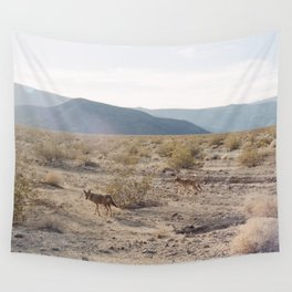 Panamint Valley Coyotes Wall Tapestry