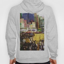 Bustling Big City New York landscape painting by George Wesley Bellows Hoody