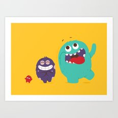 All kinds of excited Art Print