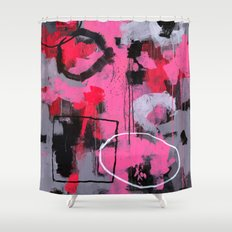Abstract Painting - Rolling the Big Wheel Shower Curtain